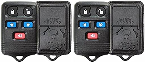 KeylessOption Just the Case Keyless Entry Remote Key Fob Shell Replacement For CWTWB1U511, CWTWB1U551 (Pack of 2)