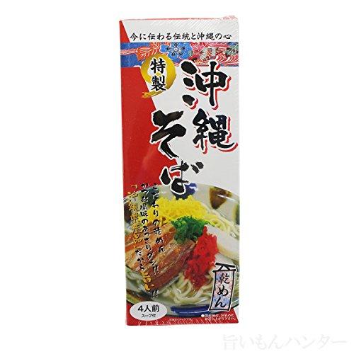 沖縄そば 乾麺4食入り(箱)×3箱 スープ付き 琉民