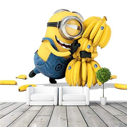 MIYCOLOR Cute Minions & Bananas Wallpaper Cartoon Movie Fototapete anpassen Raumdekor Kid Schlafzimmer TV Wand -300x210