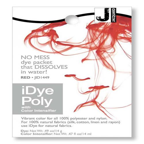 iDye Poly Red - For Polyester And Nylon Fabrics