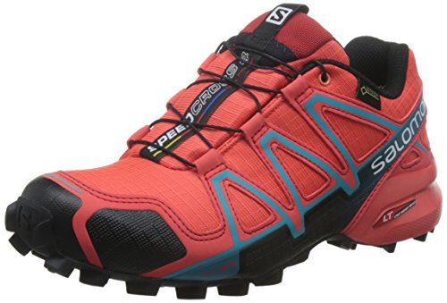 Salomon L39183600, Zapatillas de Trail Running Para Mujer, Naranja (Coral Punch/Black/Blue Jay), 39 1/3 EU