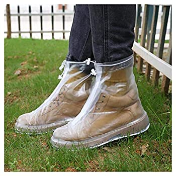 Rain Boot Waterproof Shoes Cover Women Men Kids Reusable PVC Rubber Sole Overshoes Galoshes L