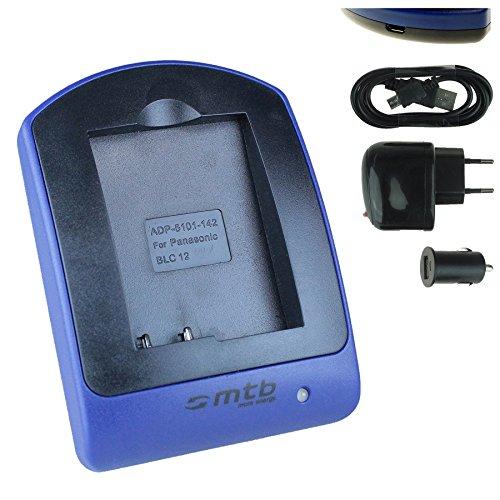Cargador (USB/Coche/Corriente) para Panasonic DMW-BLC12 / Lumix DMC-G5, G6, G70, GH2, GX8, FZ300. / Leica Q (Typ 116) - Ver Lista