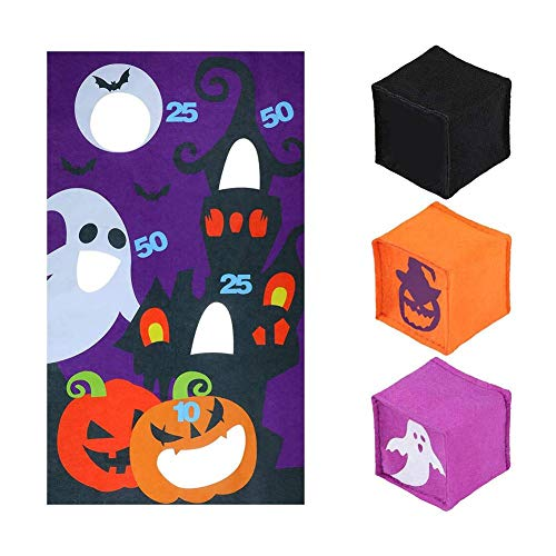 happygirr Throwing Games Halloween Toss Games with 3 Bean Bag Can Throwing Game Fun Party Supplies for Children Adults Party Activities Outdoor Indoor