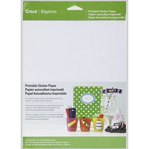 Cricut Cutting Tools - Papel adhesivo imprimible para scrapbooking
