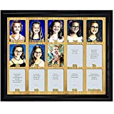 Northland School-Years Picture Frame Personalized - Preschool to Grad - Holds Fifteen (15) 2.5' x 3.5' School Photos with Graduation Picture, Black Frame, Oak Mat, Customizable name