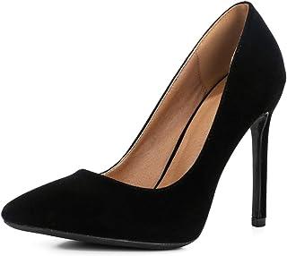 fereshte Women's Single Band Ankle Strappy Stiletto Heeled Sandals