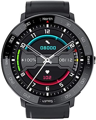 Reloj deportivo inteligente para mujer y hombre, rastreador de fitness, IP67, impermeable, Bluetooth, con contador de calorías, monitor de sueño, cronómetro, reloj de fitness, color blanco y negro