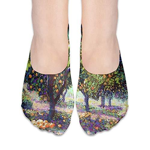 ALPHNJ Socken Zitronenbaum (2) Erstaunliche Frauen Low Cut Socke Casual Invisible Socken für Mädchen