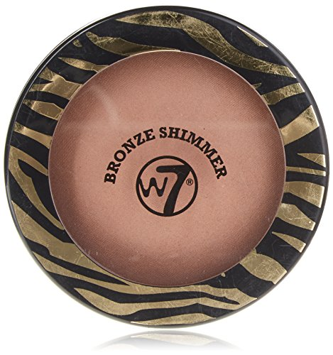 W7 The Bronzer Shimmer Compact Bronzepuder, 2er Pack(2 x 14 grams)