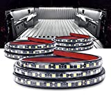 MICTUNING 3Pcs 60 Inch Truck Bed Lights - White Waterproof LED Light Strip with On-off Switch Fuse Splitter Cable for Truck Jeep Pickup RV SUV Vans Cargo Boats and More