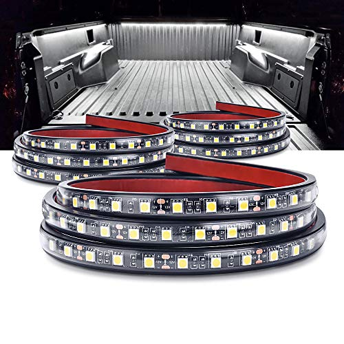 MICTUNING 3Pcs 60 Inch Truck Bed Lights - White Waterproof LED Light Strip with On-Off Switch Fuse Splitter Cable Compatible for Truck Jeep Pickup RV SUV Vans Cargo Boats and More