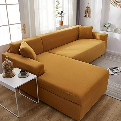 Fsogasilttlv Protector de sofá con Estampado Camel 1 Plaza, Fundas de sofá Todo Incluido de Color sólido, Fundas elásticas para sofá, Toalla, sofá de Esquina, Chaise General, 90-140 cm 1 PCS