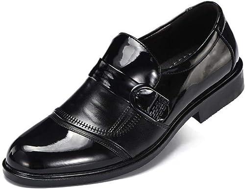 2018 Frühling Herbst Business-Kleid Schuhe, Herren Slip-Ons & Loafers, Formale Schuhe, Hochzeit & Abend (Farbe   Schwarz Größe   39) (Farbe   Schwarz Größe   37)