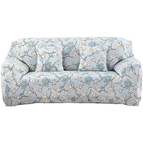 GIEODKWKM canapé imprimé Floral,Européen Minimaliste Moderne Anti-dérapant Housse de canapé-A 4 des sièges