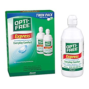 Opti-Free Express Multi-Purpose Disinfecting Solution with Lens Case Twin Pack 10-Ounces Each