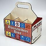 Bierträger aus Holz - Sixpack – Baustelle – Richtfest – Neues Heim - Baustellen-Bier