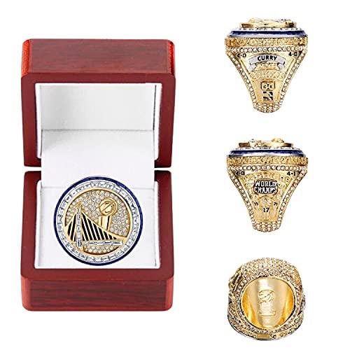 2017 Golden State Warriors Finals Championship Ring con scatola di alta qualità # 30 Basketball Champion Rings Replica Sports Fans Collection Regalo per uomo Bambini Padre