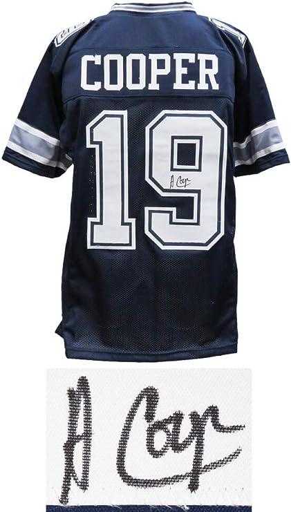 Amazon.com: Cowboys Amari Cooper Signed Navy Jersey - Schwartz ...