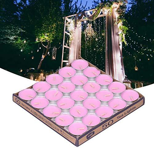 Vela perfumada, respetuosa con el Medio Ambiente Velas de Boda inodoras y seguras para Celebraciones de Bodas para cenas a la luz de Las Velas(Pink, Santa Claus)
