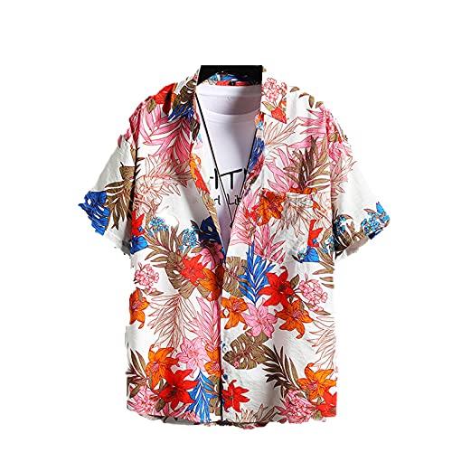 SSBZYES Herrenhemden Kurzarm Sommerhemden Herren Übergrößenhemden Kurzarmhemden Herrenmode Hemden Strand Lose Blumenhemden