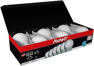 Kit com 6 Lâmpadas 9W LED Bulbo, Bivolt 6500K Branco frio, 274061473, Avant