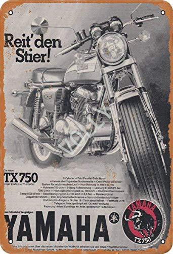 QQWDin Reit Den Stier Yamaha Blechschild Vintage Metall Pub Club Cafe Bar Home Wall Art Dekoration Poster Retro 20 x 30 cm