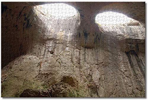 qingyuge Karlukovo, Cueva de Prohodna, Bulgaria-1000 Piezas niños Adultos Intelectual de descompresión Difícil y Desafiante Decoración Hogar Juguete-50cmx75cm