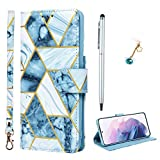 Promixc Compatible with Galaxy S21 Ultra 5G Case, Marble