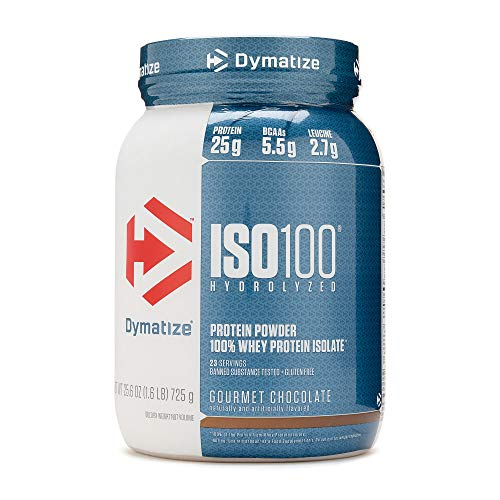 Dymatize ISO 100 Hydrolyzed Whey Protein Isolate - Gourmet Chocolate 1.6 lbs