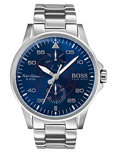 Hugo BOSS Reloj Multiesfera para Hombre de Cuarzo con Correa en Acero Inoxidable 1513519