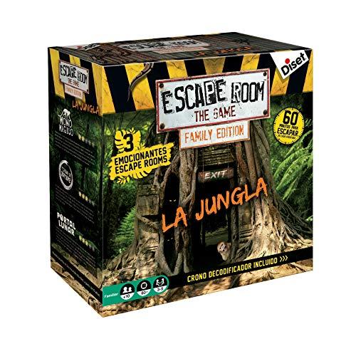 Diset - Escape Room The Jungle family edition - Juego de mesa familiar a partir de 10 años