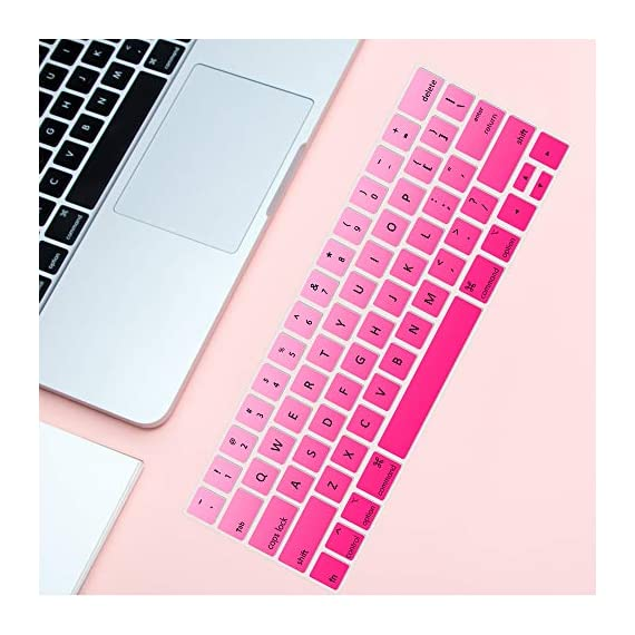 Lapogy MacBook Pro 16 inch Keyboard Cover with MAC OS Shortcut Hot Keys,Pro 13 inch 2020(A2289/A2251),Pro 16 inch 2019… 5 Only Compatible with Apple Macbook Pro 16 inch with Touch ID. Not compatible with other MacBook model. Made of premium grade transparent silicone that allows keyboard backlight to shine through High precision molding, extreme fit closely to original key, giving unparalleled typing response.