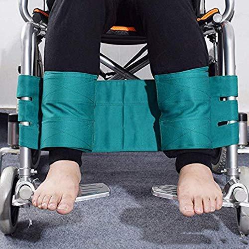 Jeamive Rollstuhl Fußstützen Rückhaltegurt Rollstuhl Sicherheitsgurt medizinische Sicherheit Transport FußUnterstützung Gürtel für Ältere & Senioren, Handicap Zubehör