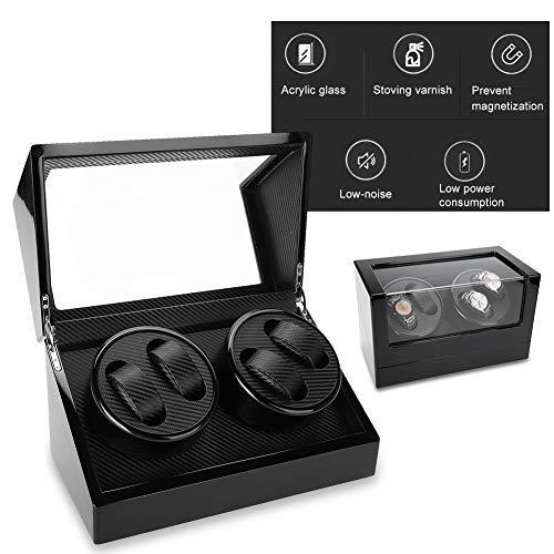 TMISHION Caja Giratoria para Relojes 4 Relojes, Enrollador de Reloj de Motor...