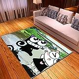 LGXINGLIyidian Casa Tappeto Modello di Arte del Fumetto Anime Classico Tappeto Morbido Antiscivolo per La Decorazione della Casa con Stampa 3D T-459K 80X150Cm