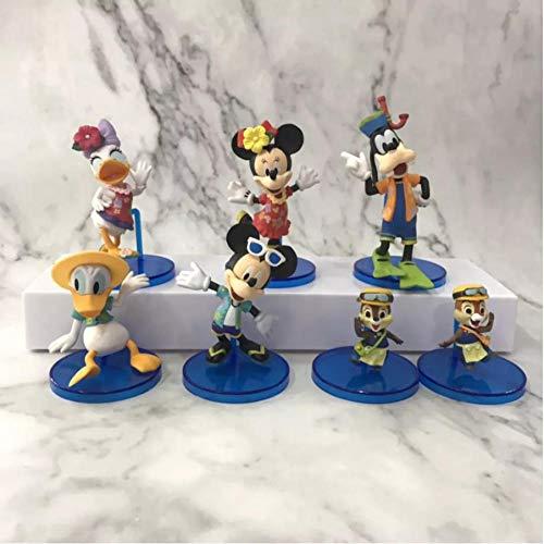 zdfgv 6 unids/Set Disney Mickey Mouse Clubhouse Mickey Minne Figuras Donald Duck Daisy Goofy Anime Figura PVC acción para niños 7-10cm