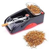 Electric Cigarette Rolling Machine,Mini Portable Cigarette Machine with Transparent Popper