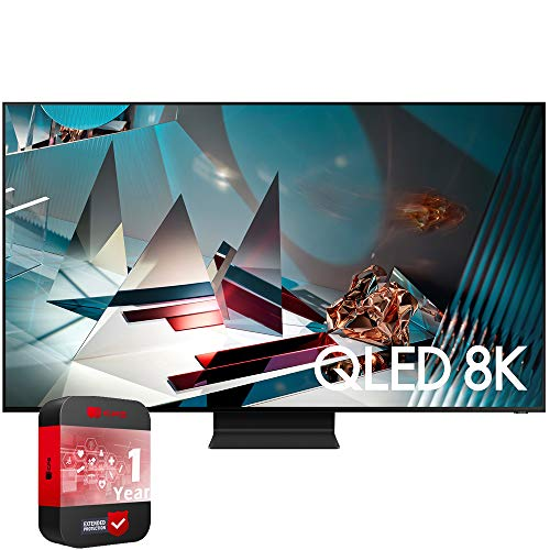 SAMSUNG QN65Q800TAFXZA 65 inch Q800T QLED 8K UHD HDR Smart TV 2020 Model Bundle with 1 Year Extended Warranty