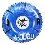 A-DUDU Snow Tube - Super Big 47 Inch Inflatable Snow Sled for Kids and Adults - Heavy Duty Inflatable Snow Tube Made by Thickening Material of 0.6mm