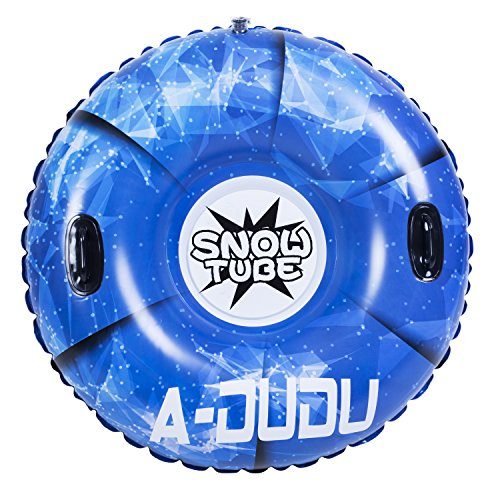 A-DUDU Snow Tube - Super Big 47 Inch Inflatable Snow Sled for Kids and Adults -...