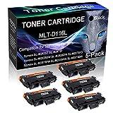 5-Pack Black Compatible Laser Printer Cartridge (High Yield) Replacement for Samsung MLT-D116L MLTD116L D116L Imaging Cartridge use for Samsung Xpress SL-M2885FW SL-M2875DW Printer