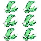 Clips Marcadores Pelotas Golf Herramienta Práctica Clip Dibujo Accesorios Entrenamiento Golf Colocación Campo para Plantillas de Marcadores de Línea de Alineación para Marcar Bolas Verdes (6 Piezas)