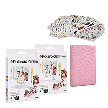 Polaroid 3.5 x 4.25 inch Premium Zink Paper 80 Pack Sticker Kit Sticker Bundle