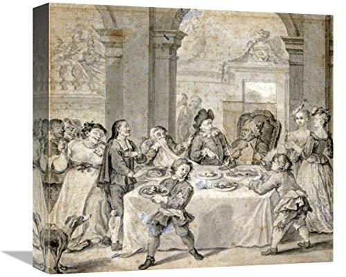 Global Gallery Lienzo con ilustración para Don Quijote, 40,6 x 14,8 cm
