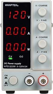 小さくてコンパクト KKmoonDC安定化電源NPS1203W0-120V0-3AスイッチングDC電源3桁表示..