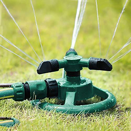 BULY Aspersor de jardín,Aspersor automático de Agua para césped Rociador Giratorio de...