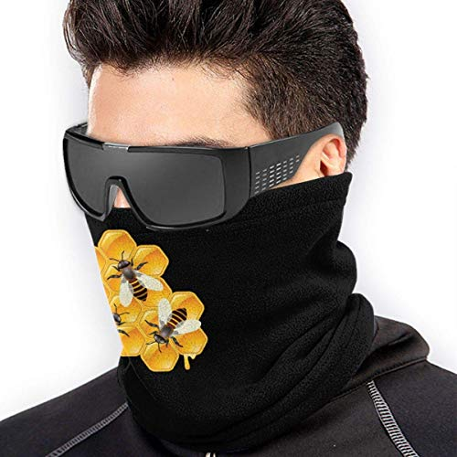 QDAS Heren Vrouwen Bijen honingraathals Gamas Warmer Gratis UV-haarband voor unisex zwart