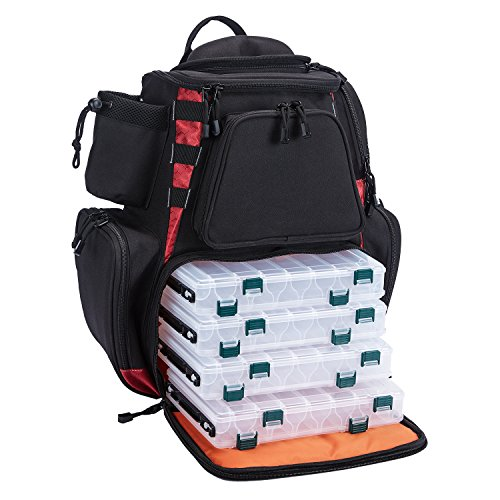 Piscifun Fishing Tackle Backpack with 4 Trays Large Capacity...