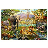 1000ピース ジグソーパズルanimal Lovers アフリカの動物 パズル ジグソーパズル 木製 超ミニピース ジグソーパズル 減圧 大人 おもちゃ コレクション 贈り物 75cmx50cm